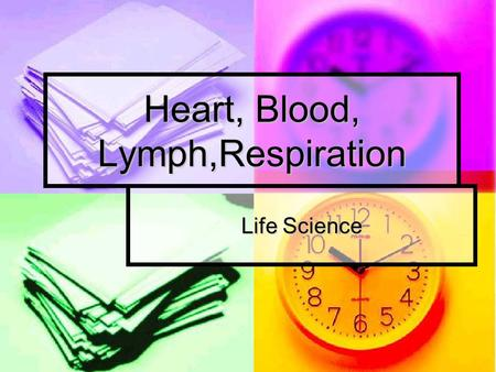 Heart, Blood, Lymph,Respiration Life Science. Parts of the Heart Right and left sides are opposite of hands on paper. Right and left sides are opposite.
