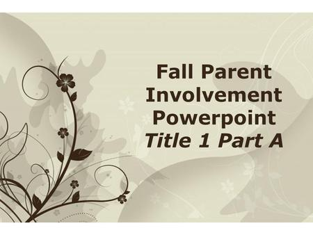 Click here to download this powerpoint template : Brown Floral Background Free Powerpoint TemplateBrown Floral Background Free Powerpoint Template For.