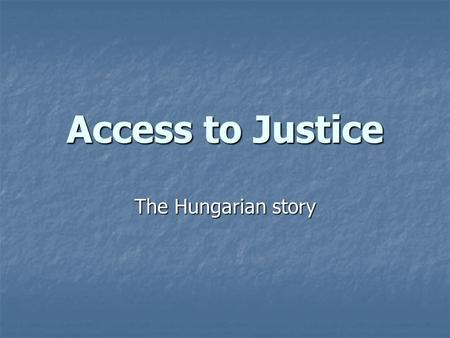 Access to Justice The Hungarian story. 2 1. Starting point: Article 9 9.1 administrative, judicial review where access to information is refused 9.1 administrative,