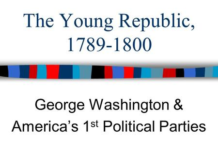 """washington s farewell address his stances sectionalism pol A people's history of the united states harper perennial rise in sectionalism from 1787 until 1860 george washington's """"farewell address."""