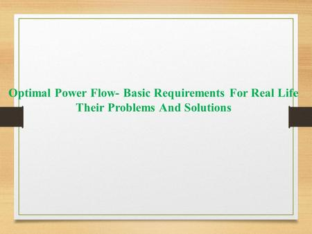 power flow problems and solutions pdf