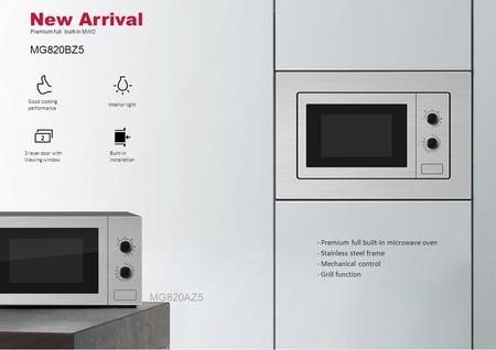 New Arrival Premium full built-in MWO MG820BZ5 - Premium full built-in microwave oven - Stainless steel frame - Mechanical control - Grill function MG820AZ5.