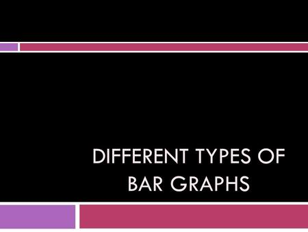DIFFERENT TYPES OF BAR GRAPHS. Simple Bar Graph Properties: 1.Can have horizontal or vertical bars 2.Can have spacing between the bars 3.Bars must be.