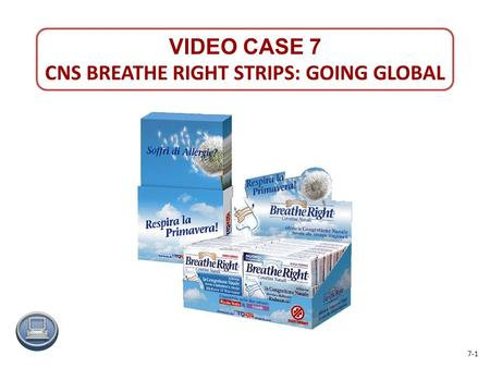 CNS BREATHE RIGHT STRIPS: GOING GLOBAL