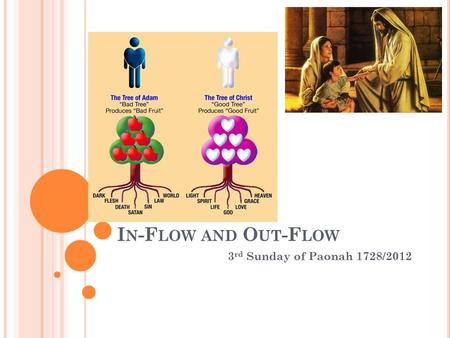 I N -F LOW AND O UT -F LOW 3 rd Sunday of Paonah 1728/2012.
