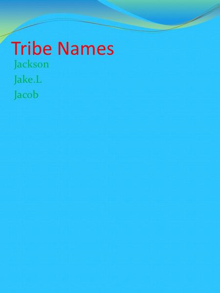 Tribe Names Jackson Jake.L Jacob location Michigan Upper peninsula lower peninsula and Canada.