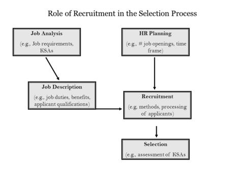 Role of Recruitment in the Selection Process