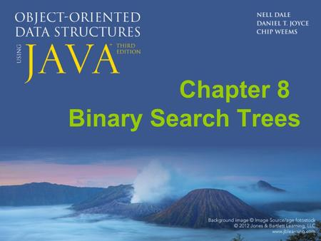 Chapter 8 Binary Search Trees. Chapter 8: Binary Search Trees 8.1 – Trees 8.2 – The Logical Level 8.3 – The Application Level 8.4 – The Implementation.