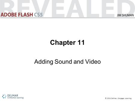 © 2011 Delmar, Cengage Learning Chapter 11 Adding Sound and Video.