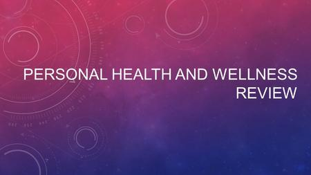 PERSONAL HEALTH AND WELLNESS REVIEW. What is the vocab word?! The combination of physical, mental, and social well-being. Health.