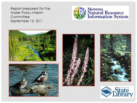 Report prepared for the Water Policy Interim Committee September 13, 2011.