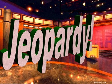 Jeopardy 100 200 100 200 300 400 500 300 400 500 100 200 300 400 500 100 200 300 400 500 100 200 300 400 500 Chemistry Water What am I?VocabularyMisc.