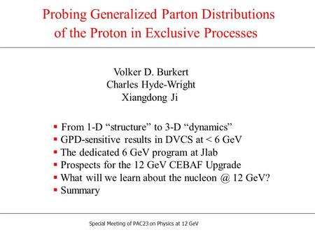 Probing Generalized Parton Distributions