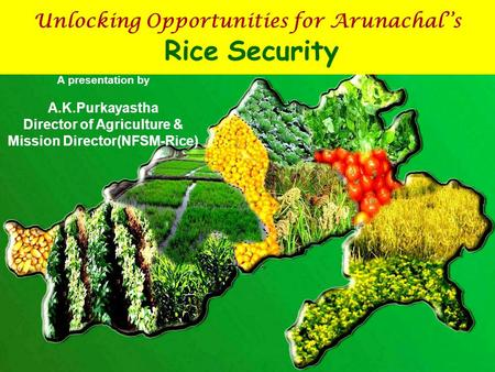 Unlocking Opportunities for Arunachal''s Rice Security A presentation by A.K.Purkayastha Director of Agriculture & Mission Director(NFSM-Rice)