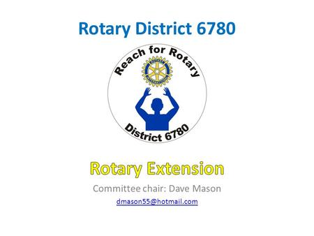 "Rotary District 6780. Questions Who thinks there are no more potentially good Rotarians in our District? Who feels our District has ""no room"" for additional."