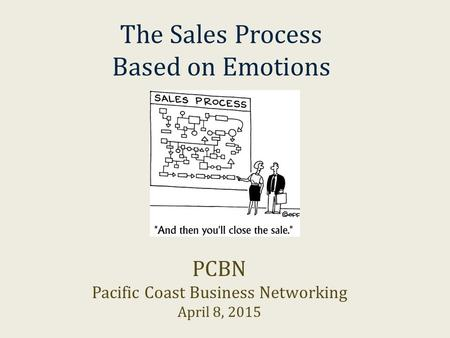 The Sales Process Based on Emotions