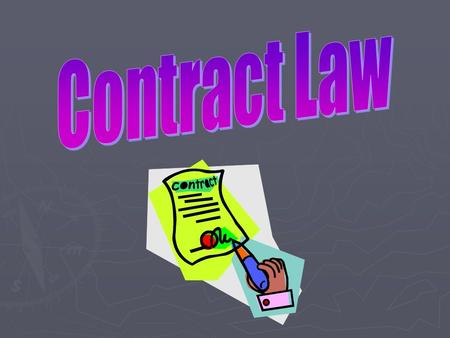 What is a Contract?  A voluntary agreement between two or more parties.