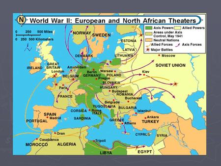 World War II The War in Europe Poland ► German-Soviet Pact ► Invaded on Sep. 1, 1939, surrender on Sep. 28, 1939 ► Britain & France declare war on Germany.