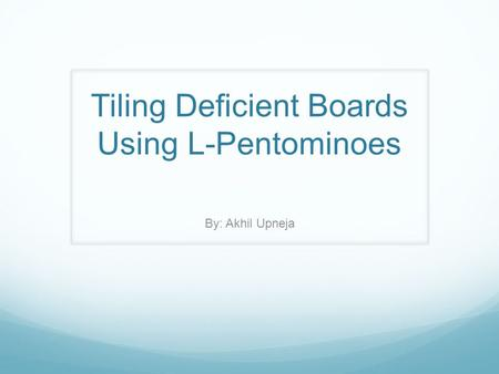 Tiling Deficient Boards Using L-Pentominoes