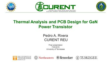 Thermal Analysis and PCB Design for GaN Power Transistor