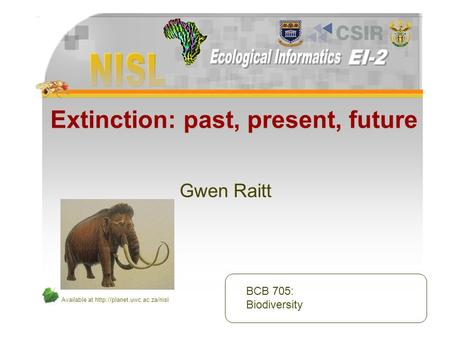 Available at  Extinction: past, present, future Gwen Raitt BCB 705: Biodiversity.