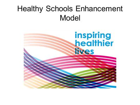 "Healthy Schools Enhancement Model. Context ""Enhancement Model will better equip schools to promote universal health improvement for all children and young."