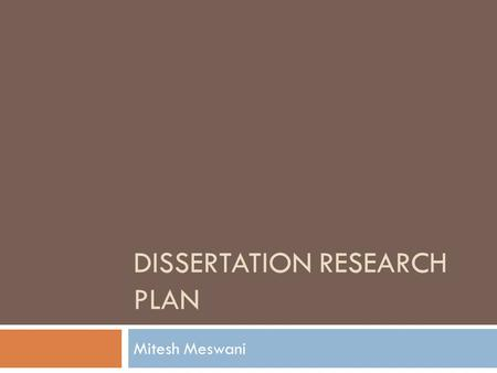 DISSERTATION RESEARCH PLAN Mitesh Meswani. Outline  Dissertation Research Update  Previous Approach and Results  Modified Research Plan  Identifying.