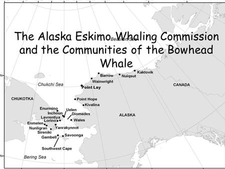 Point Lay The Alaska Eskimo Whaling Commission and the Communities of the Bowhead Whale.