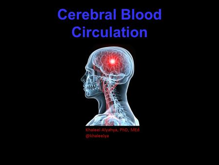 Cerebral Blood Circulation Khaleel Alyahya, PhD,