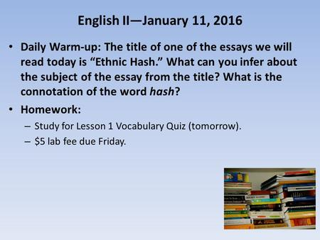 what belongs in the introductory paragraph of an essay
