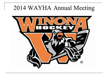 2014 WAYHA Annual Meeting. Registration Update 2004-20052005-006 2006-2007 2007-20082008-20092009-20102010-20112011-20122012-20132013-2014 LTS9066 113.