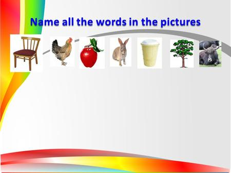 Name all the words in the pictures. A train of your success.