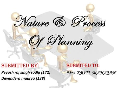Nature & Process Of Planning