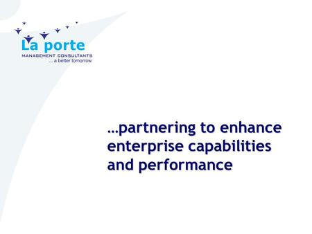 …partnering to enhance enterprise capabilities and performance.