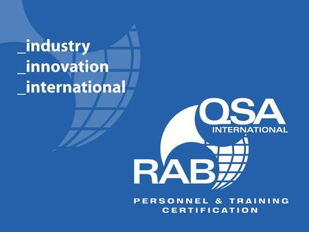 1. 2 qualification vs. competence … the future of aerospace auditing Shanya Salamaca Executive Director The Americas RABQSA International, Inc.