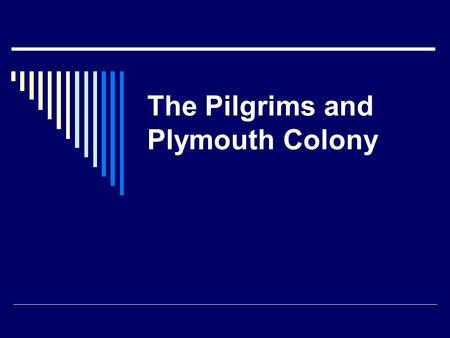 The Pilgrims and Plymouth Colony. The Pilgrims  A pilgrim is a person who makes a journey for a religious reason.  In 1608 a group of religious farmers.