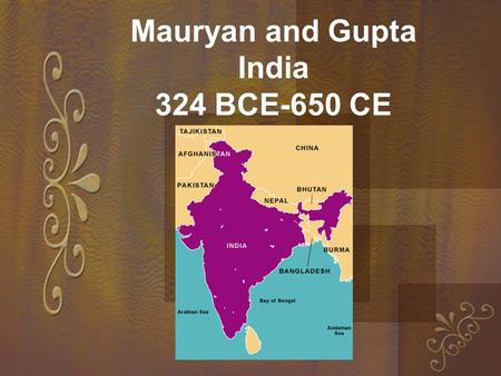 compare and contrast han china and mauryan gupta india