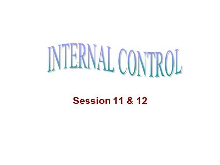 Session 11 & 12. Auditing standard of I.A. & A.D. Prescribes: Auditor should report about weakness in Internal Control of management (Para 7.1.) Weakness.