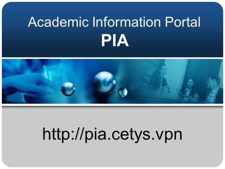 Academic Information Portal PIA
