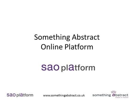 Www.somethingabstract.co.uk Something Abstract Online Platform.