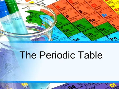 The Periodic Table. What is PERIODIC? Meaning they had a regular, repeating pattern As a table take the deck of cards and come up with as many ways the.