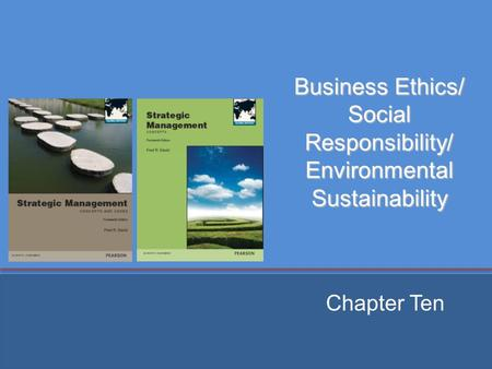 Business Ethics/ Social Responsibility/ Environmental Sustainability Chapter Ten.