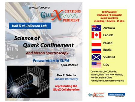 1. Progress Report Science of Confinement The spectroscopy of light mesons led to the quark model and QCD: mesons are quark-antiquark color singlet.