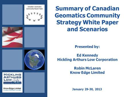 Canadian Geomatics Community Round Table Know Edge Limited Location Information Innovation Summary of Canadian Geomatics Community Strategy White Paper.