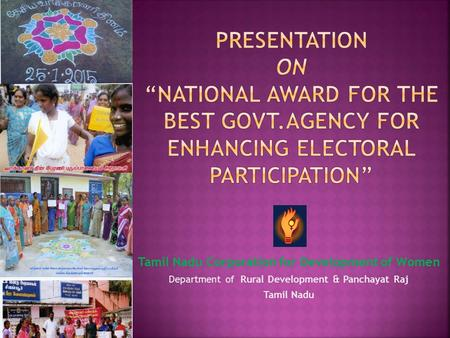 "Presentation on ""national award for the BEST GOVT"