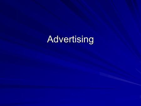 Advertising. Review Definition Any paid form of nonpersonal communication through the mass media about a good, service, or idea by an identified sponsor.