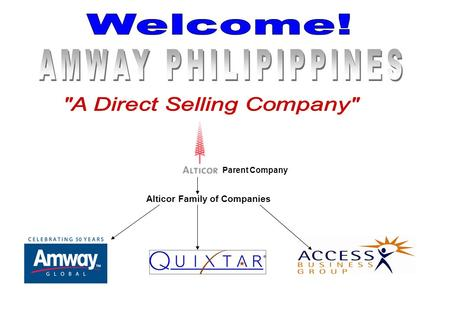 Parent Company Alticor Family of Companies. What is the Amway Sales Marketing Plan? It is proven marketing system designed to reward the efforts of those.