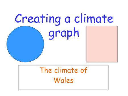 Creating a climate graph The climate of Wales. Step one Access the Excel program and select a blank spreadsheet option. In the second column type in the.