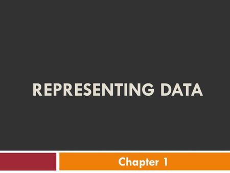 REPRESENTING DATA Chapter 1. VOCABULARY  Bar Graph – uses horizontal or vertical bars to represent data  Line Graph – uses a line to show changes in.