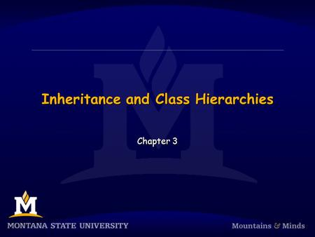 Inheritance and Class Hierarchies Chapter 3. Chapter Objectives  To understand inheritance and how it facilitates code reuse  To understand how Java.